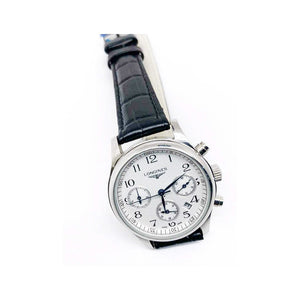 LG625 Automatic Chronograph - Women's Leather Watch - Bejewel