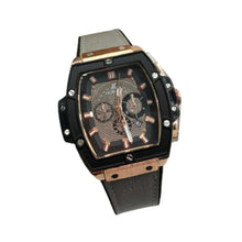 Load image into Gallery viewer, HU395 Men's Leather Watch - Bejewel