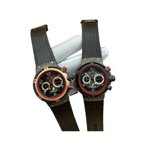 HU471 Chronograph - Unisex Leather Watch - Bejewel