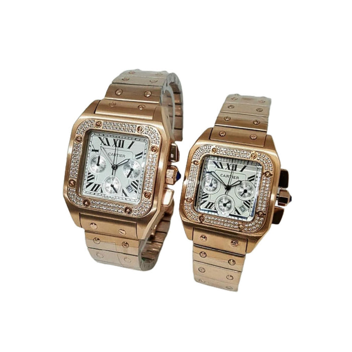 CR661 Automatic Couples Chain Watch - Bejewel