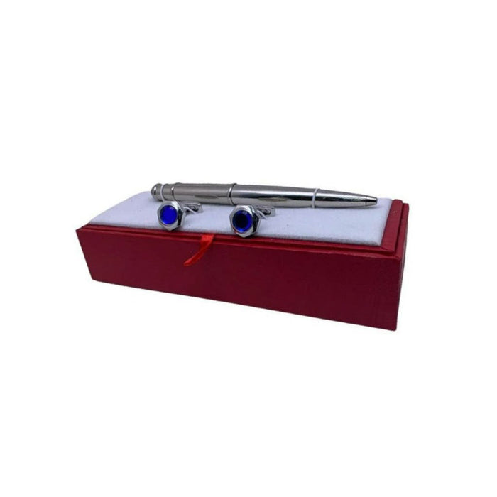 CF285 Cufflink And Biro Set - Bejewel