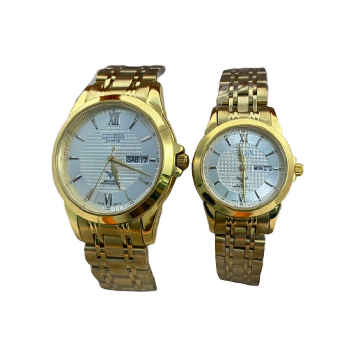 CZ469 Automatic Couples Chain Watch - Bejewel
