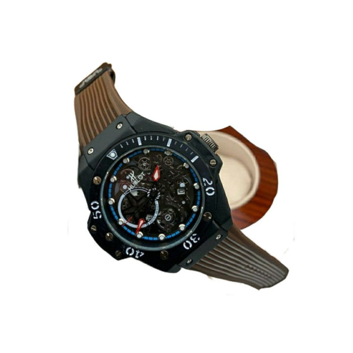 HU505 Men's Rubber Watch - Bejewel