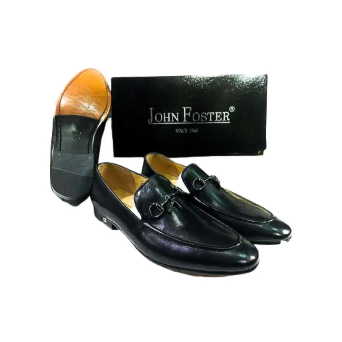 John Foster MS367 Men's Leather Loafer Shoe - Bejewel