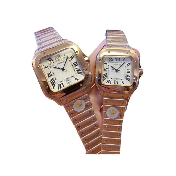 CA741 Automatic Couples Chain Watch - Bejewel