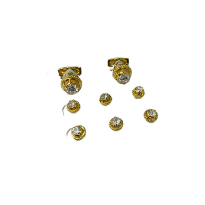 CS538 Cufflink And Stud Set - Bejewel