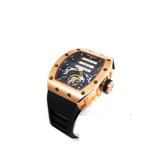Richard Mille RM955 tourbillon  chronograph- unisex rubber strap watch - Bejewel