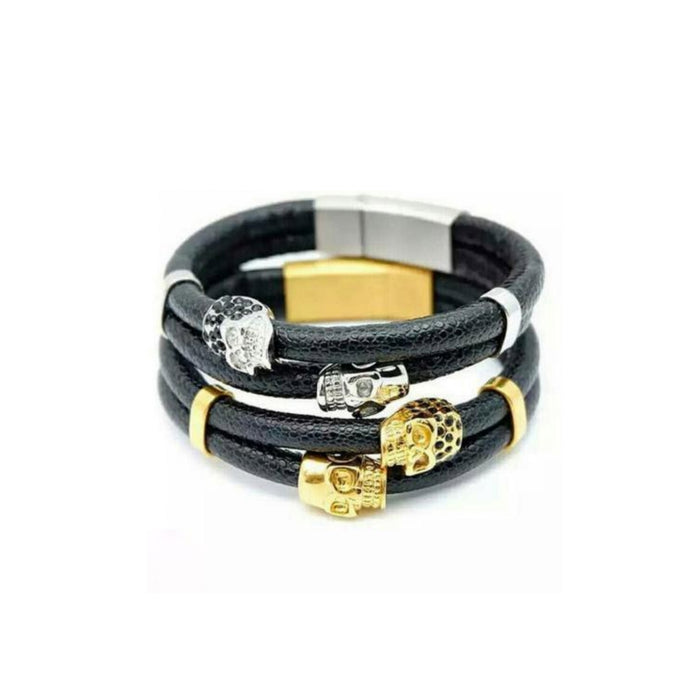 Philip plein P228 men's leather bangle - Bejewel