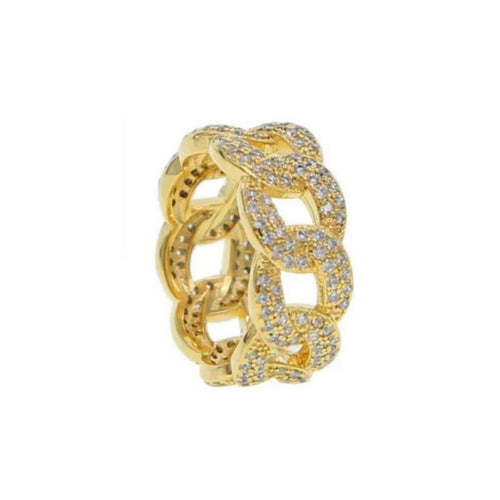 Ri105 Stone crystals unisex fashion ring - Bejewel