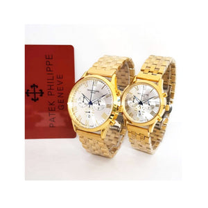 Patek Philippe PP590 Chronograph - Couples Chain Watch - Bejewel
