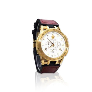 Versace VS342 Chronograph - men's leather watch - Bejewel