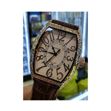 Load image into Gallery viewer, Franck Muller FM429 men's leather watch - Bejewel
