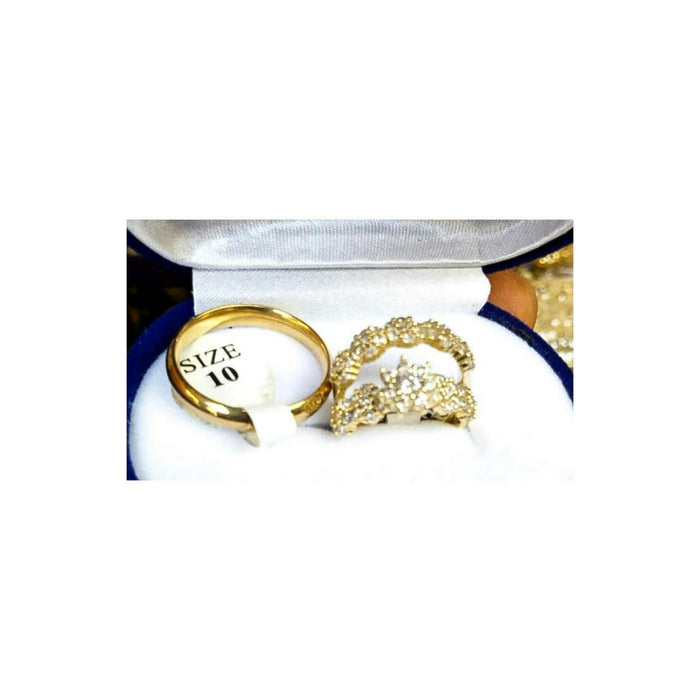 WR773 Couple's wedding ring - Bejewel