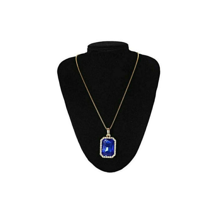 Blue ruby onyx pendant- women's fashion necklace - Bejewel