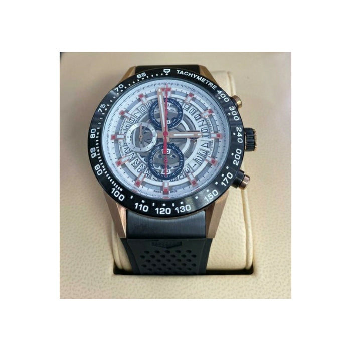 Tag Heuer TH804 Chronograph - Men's Rubber Watch - Bejewel