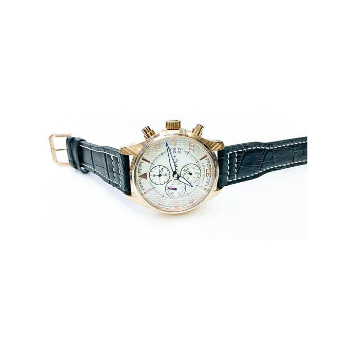IWC58 Chronograph - Men's Leather Watch - Bejewel