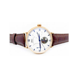 IWC61 Automatic Chronograph - Unisex Leather Watch - Bejewel
