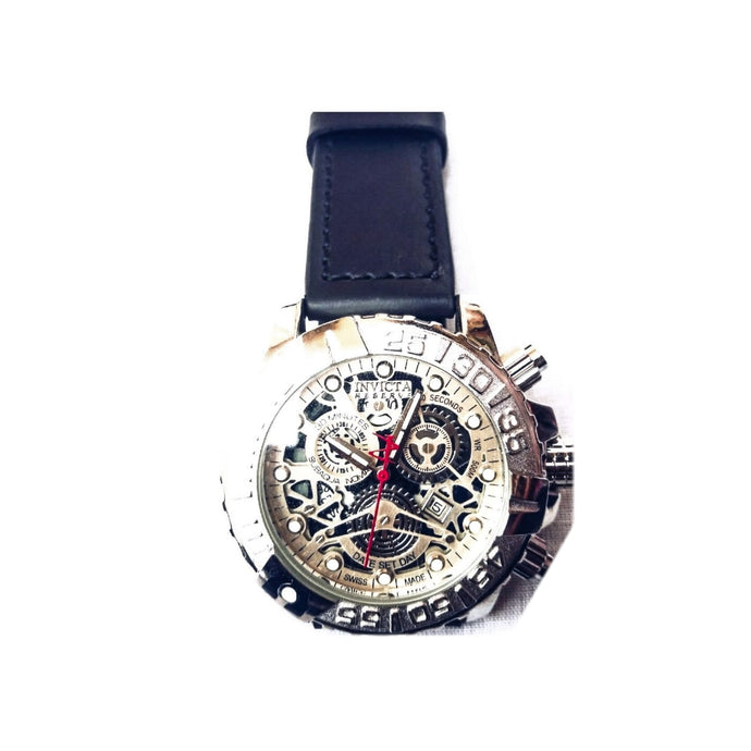 Invicta IV295 - Men's Leather Watch - Bejewel