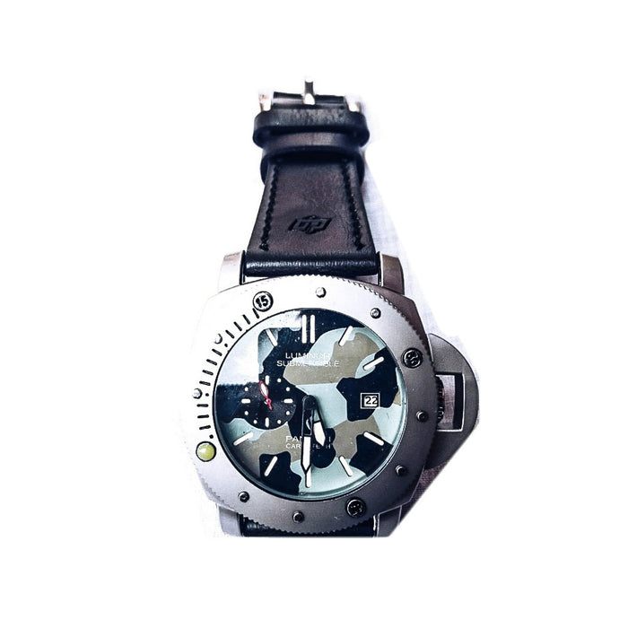 Luminor Submersible - LS357 Men's Leather Watch - Bejewel