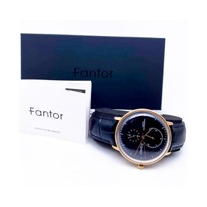 Fantor FT241 Chronograph - Unisex Leather Watch - Bejewel