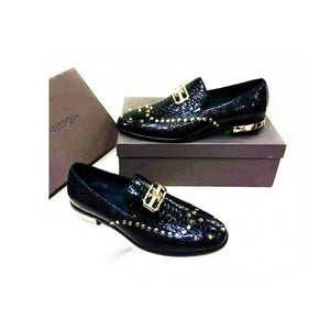 MS938 Men's Leather Loafer Shoe - Bejewel