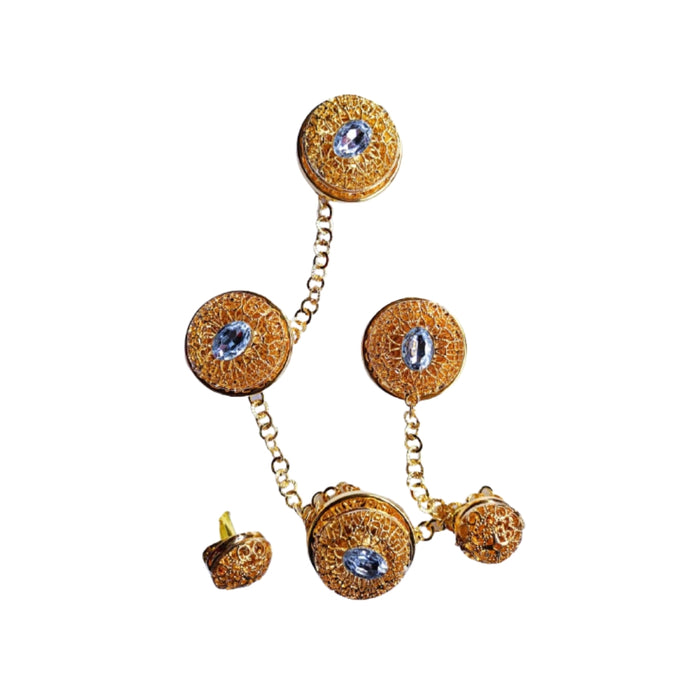 EN363 Etibo Native Cufflink And Stud Set - Bejewel