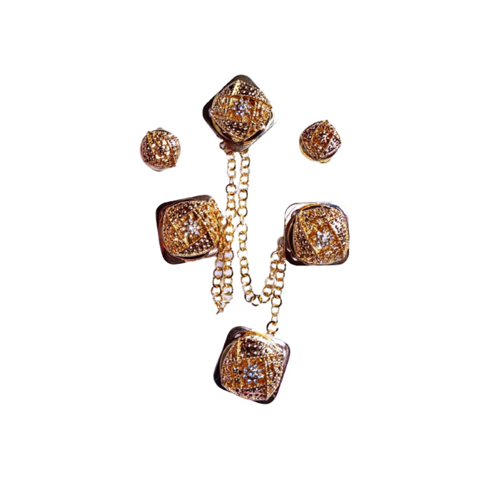 EN773 Etibo Native Cufflink And Stud Set - Bejewel