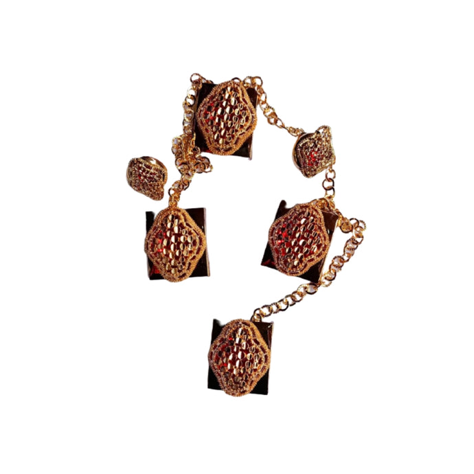 EN884 Etibo Native Cufflink And Stud Set - Bejewel