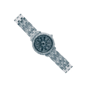 Look World FO420 Rolling Dial - Women's Chain Watch - Bejewel