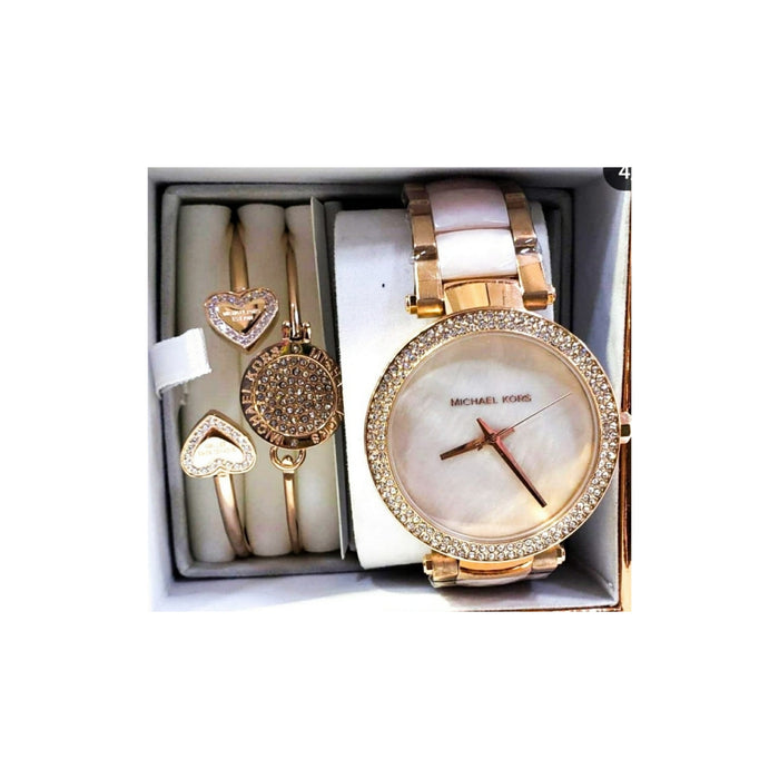 MK436 Women's Chain Watch And Bracelet Set - Bejewel