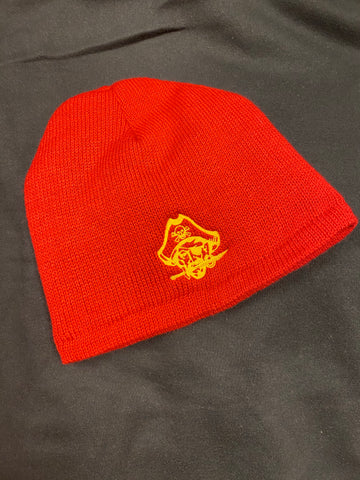 """NEW"" Knit Beanie - Red Fleece Lined"