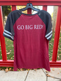 """NEW"" Ladies V Neck T-Shirt ""GO BIG RED"""