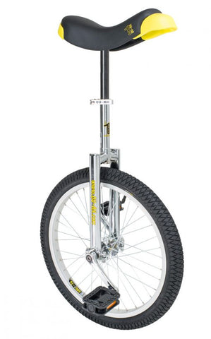 "QU-AX Luxus 20"" Unicycle (chrome)"