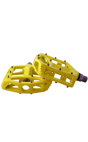 Pedals Magnesium Cross (yellow/changeable pins)