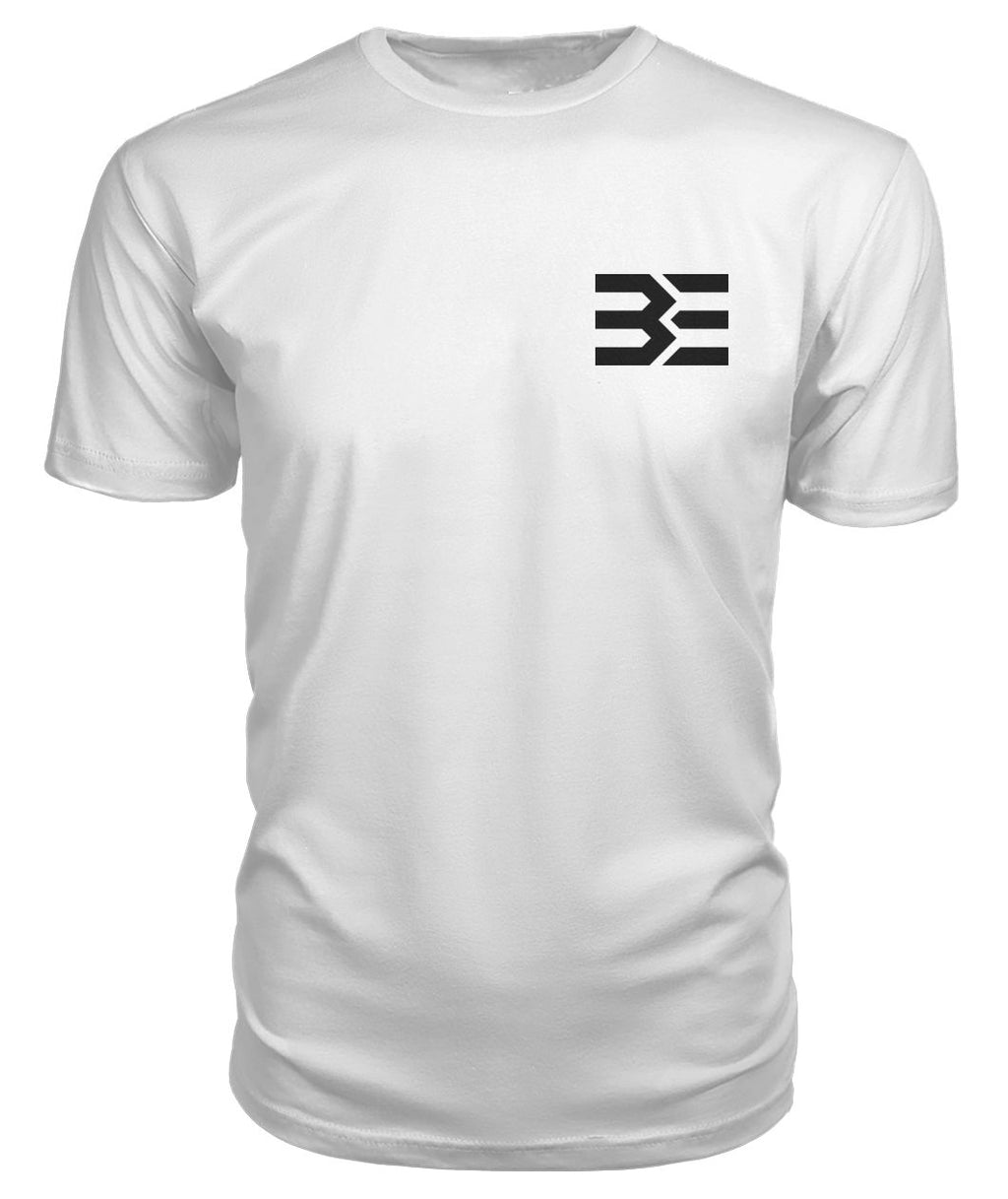 Bliss Logo T-shirt - White/Black Premium Unisex Tee