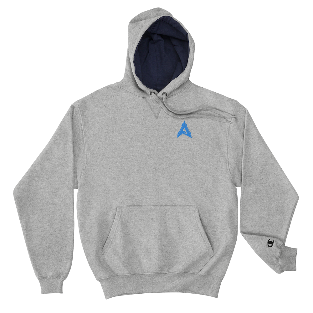 Advrsty x Champion Hoodie (grey/blue)
