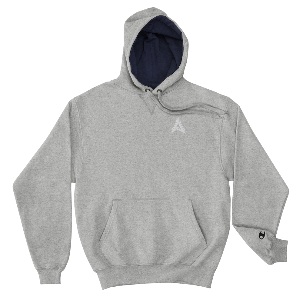 Advrsty x Champion Hoodie (grey/white)