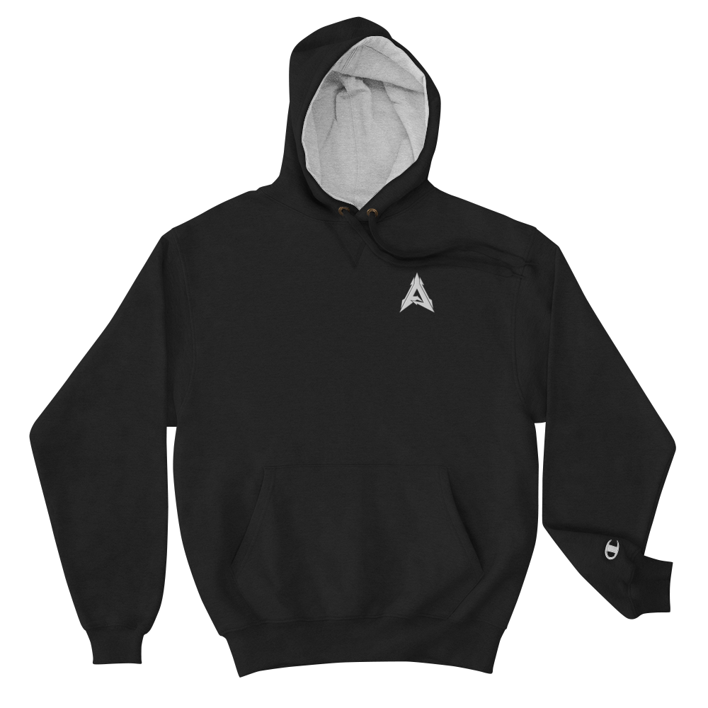 Advrsty x Champion Hoodie (black/white)