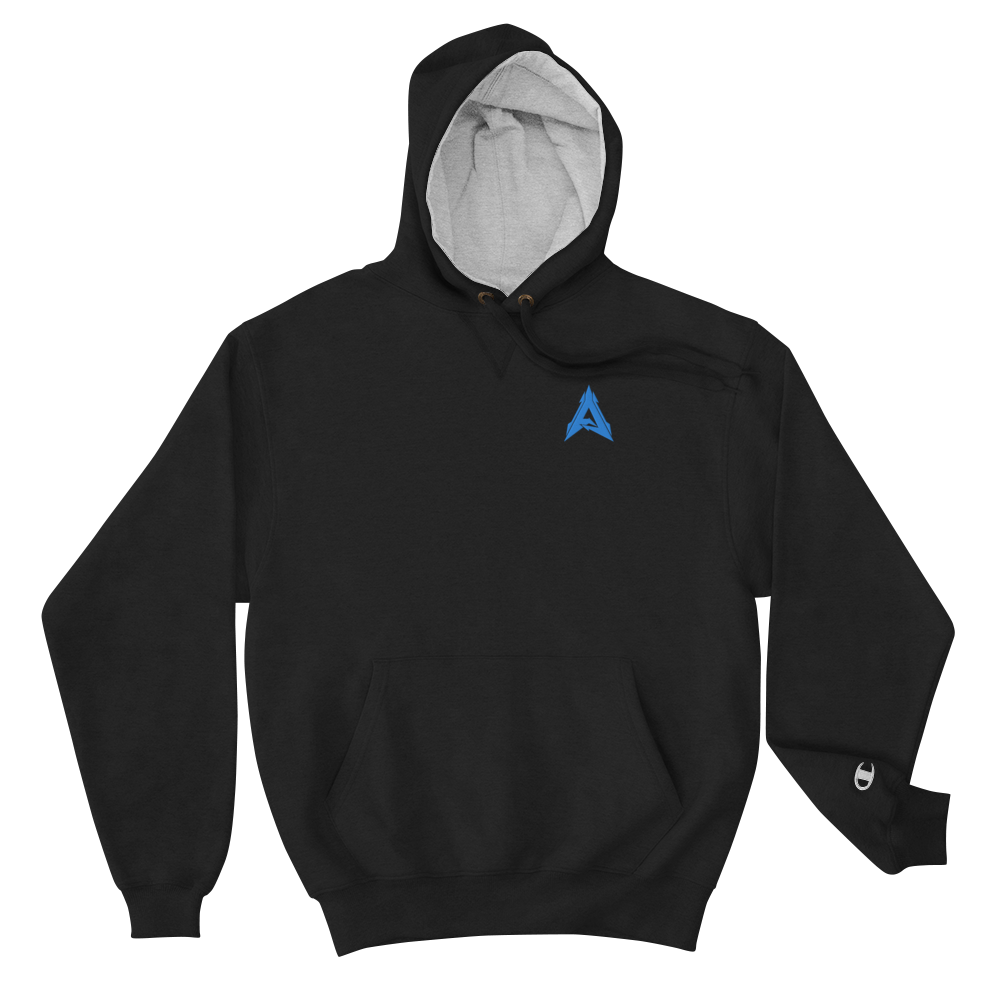 Advrsty x Champion Hoodie (black/blue)