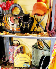 Hat, bags, Necklaces and Earrings on the Liha Mobile Boutique