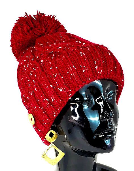 3 Piece Knitted Hat, Scarf & Face-Mask Set