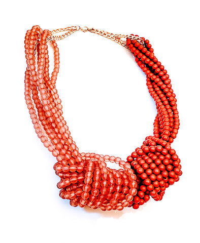 Two Tone Knotted Necklace