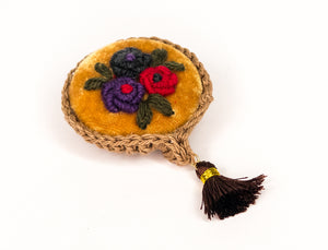 Floral, Hand Embroidered Broach