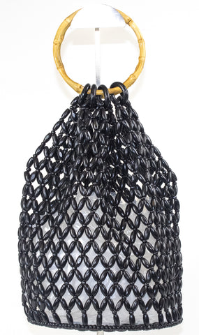 Black Beaded Handbag