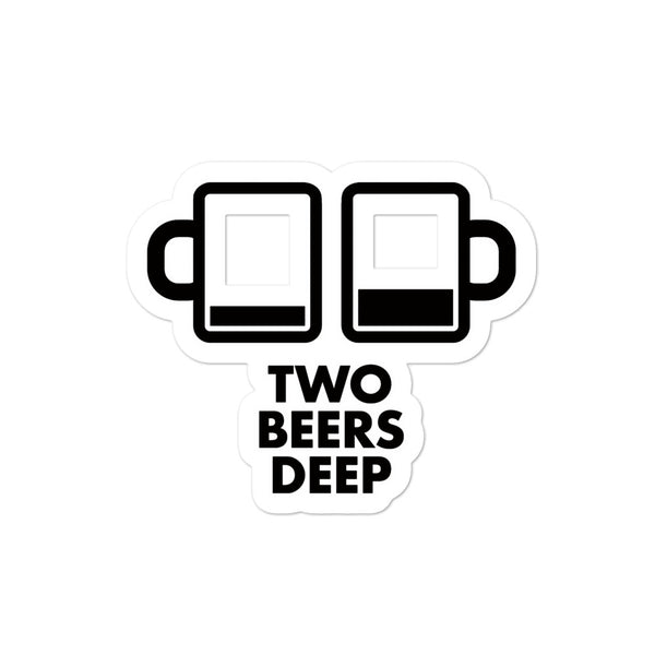 Two Beers Deep Stickers