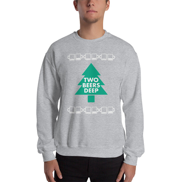 Two Beers Deep Ugly Christmas Sweater