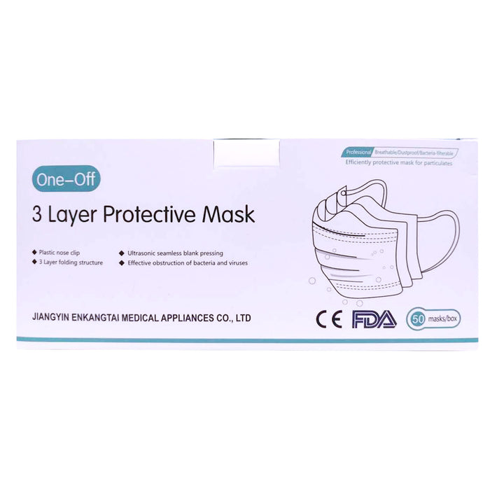 三層隔離口罩 - 3 Layers Protective Mask 50-ct