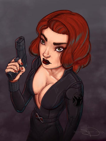 Marvel Black Widow Print