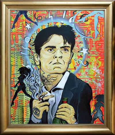 Charlie Sheen meltdown fine art painting