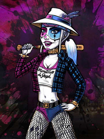 DC Chola Harley Quinn Digital Art Print